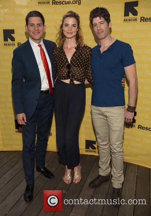 David Milliband, Melanie Huettner and Brad Raider 2
