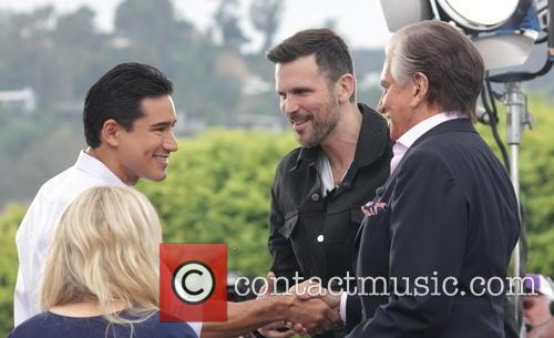 George Hamilton, Mario Lopez and Ashley Hamilton 3