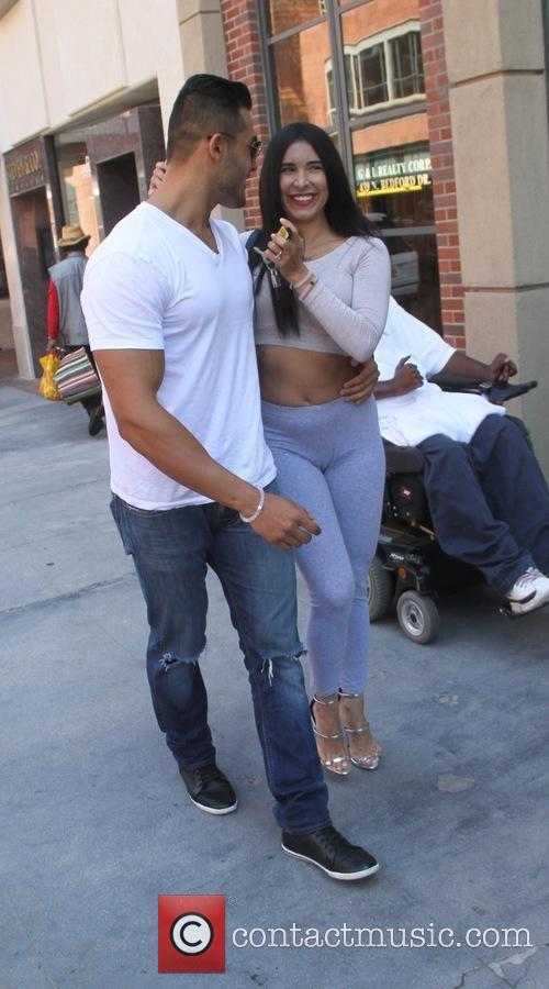 Mayra Veronica with her boyfriend goes shopping in...