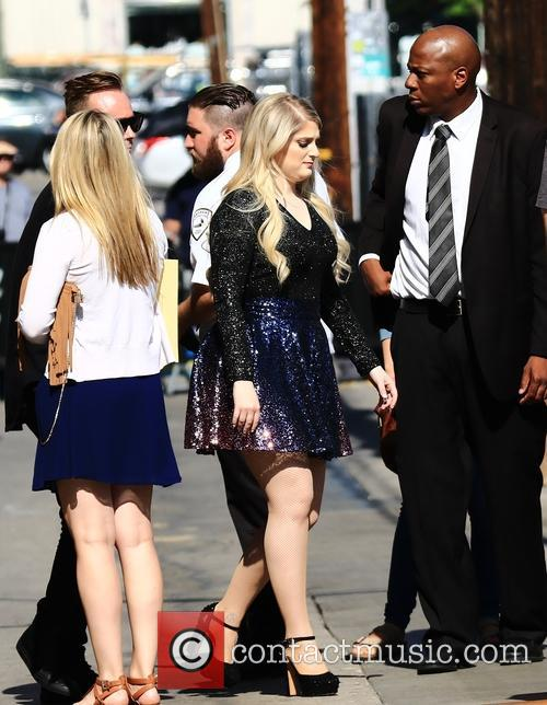 Meghan Trainor arriving for the Jimmy Kimmel Live!