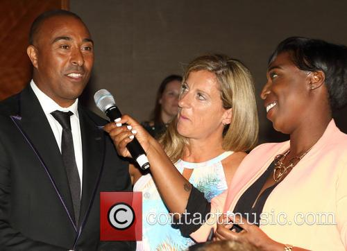 Colin Jackson, Sally Gunnell and Jeanette Kwakye