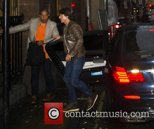 Tom Cruise arriving at Picturehouse