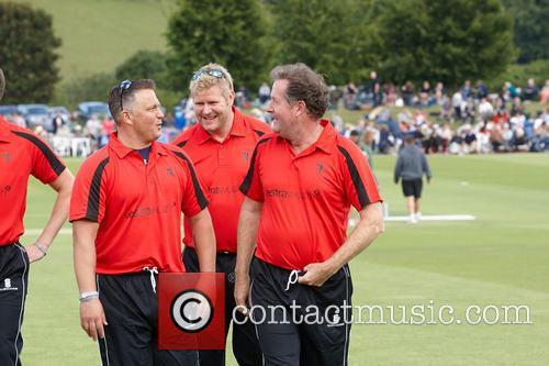 Darren Gough, Matthew Hoggard and Piers Morgan 3