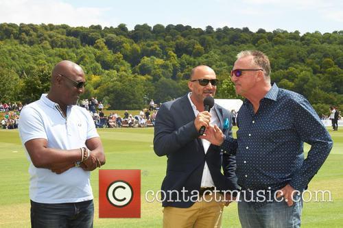 Viv Richards, Mark Butcher and Ian Botham 3