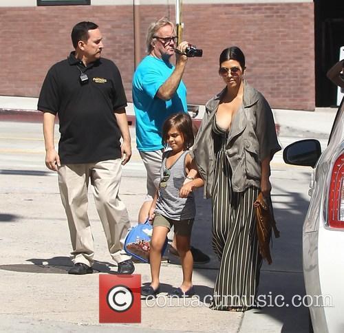 Kourtney Kardashian and Mason Disick 2