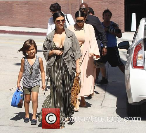 Corey Gamble, Kim Kardashian, Kourtney Kardashian and Mason Disick 5