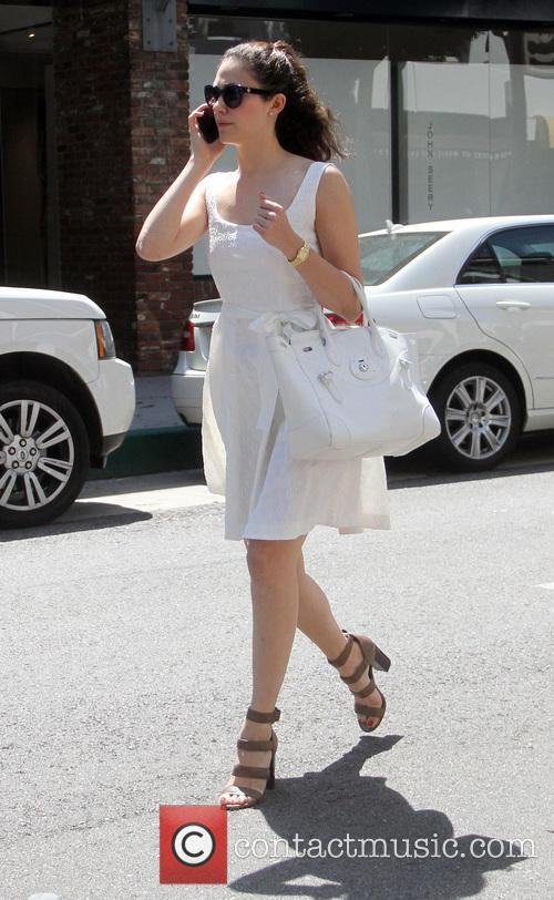 Emmy Rossum goes shopping in Beverly Hills
