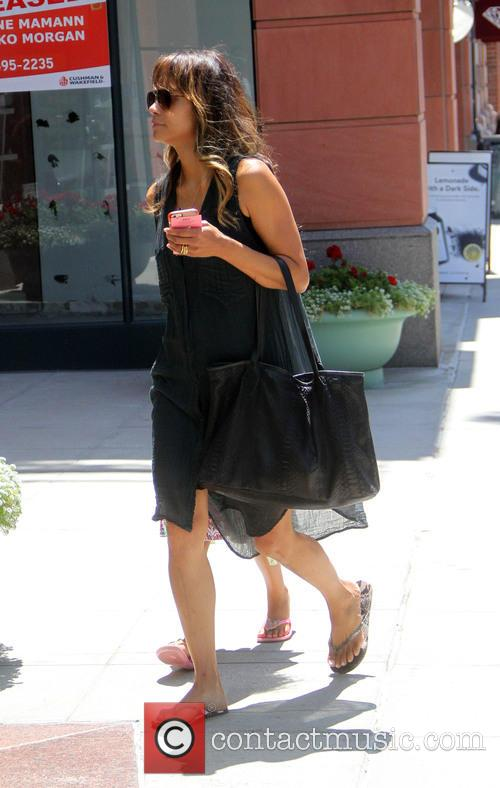 Halle Berry takes her daughter shopping in Beverly...