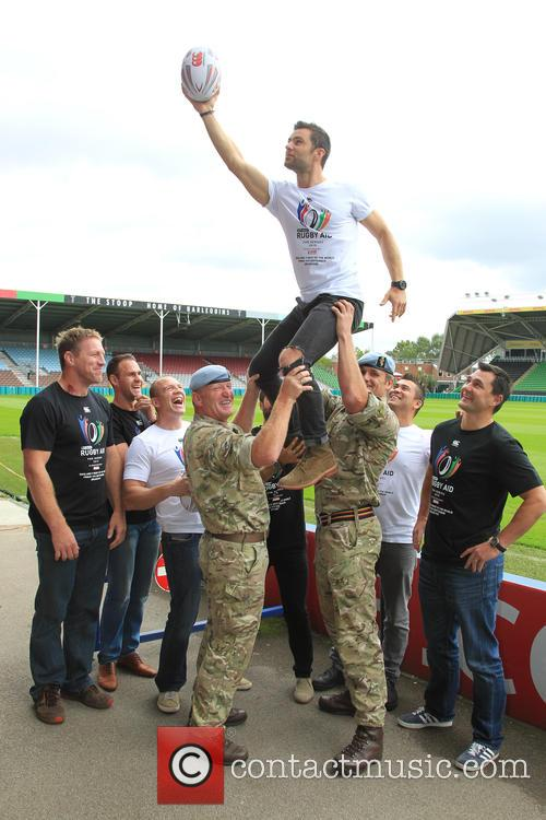 Mike Tindall, Harry Judd, Matt Johnson and Rav Wilding