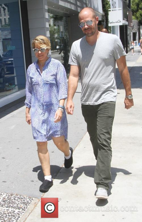 Yeardley Smith goes shopping in Hollywood