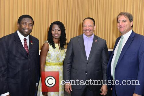 Fort Lauderdale, Broward County Commissioner Dale Holness, Urban League Of Broward County Ceo Germaine Smith-baugh and National Urban League President & Ceo Marc H. Morial 1