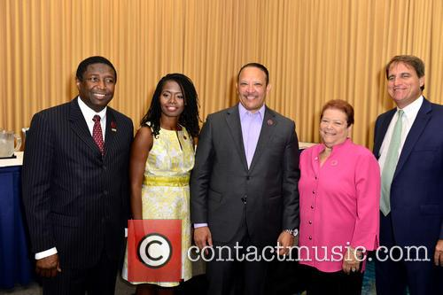 Fort Lauderdale, Broward County Commissioner Dale Holness, Urban League Of Broward County Ceo Germaine Smith-baugh and National Urban League President & Ceo Marc H. Morial 2