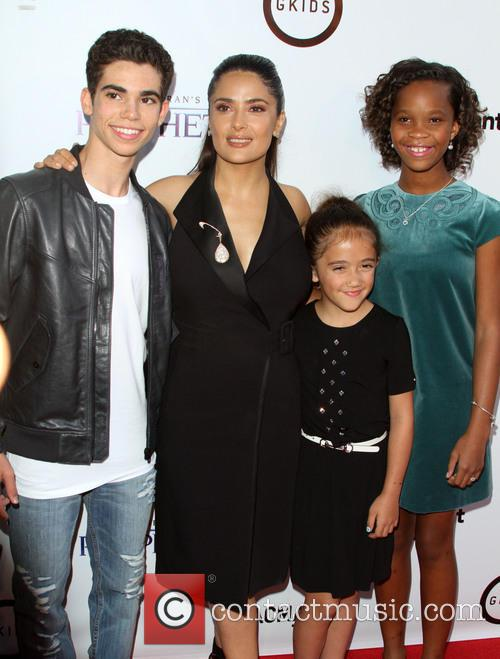 Cameron Boyce, Salma Hayek, Daughter Valentina Paloma Pinault and Quvenzhane Wallis 2