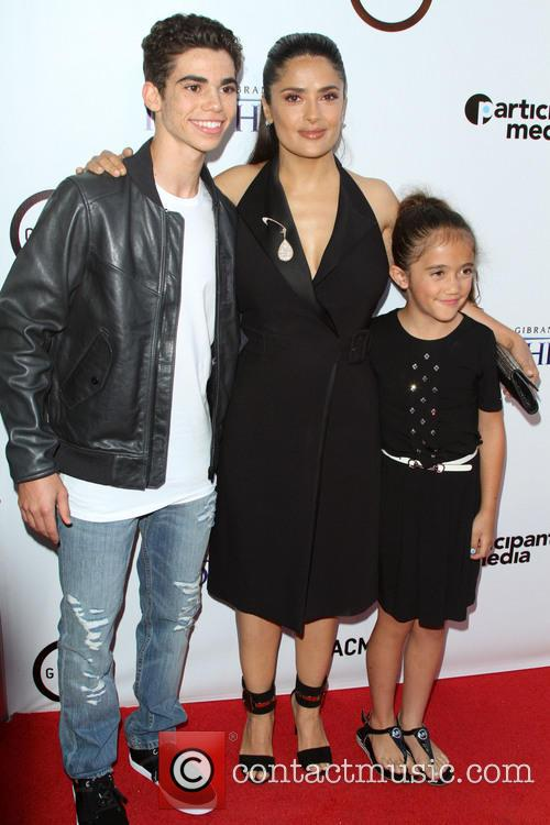 Cameron Boyce, Salma Hayek and Daughter Valentina Paloma 3