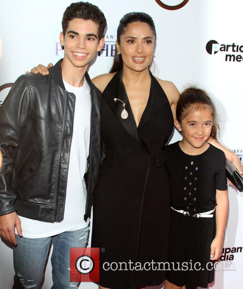 Cameron Boyce, Salma Hayek and Daughter Valentina Paloma 4