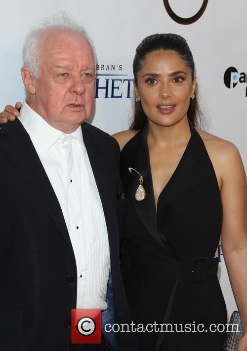 Jim Sheridan and Salma Hayek