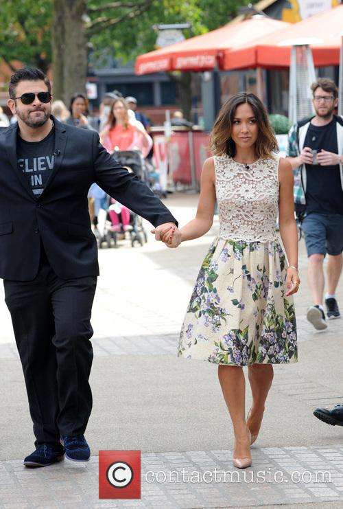 Adam Richman and Myleene Klass 3