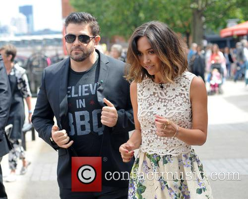Adam Richman and Myleene Klass 4