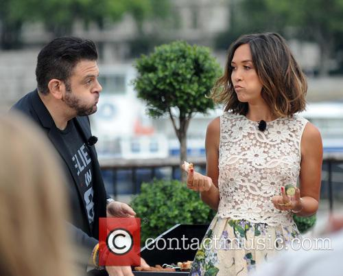 Adam Richman and Myleene Klass 5