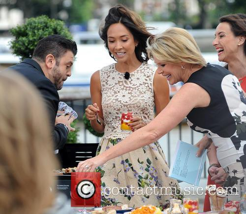 Adam Richman and Myleene Klass 1