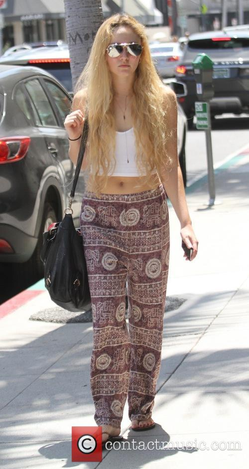 AnnaSophia Robb goes shopping in Beverly Hills