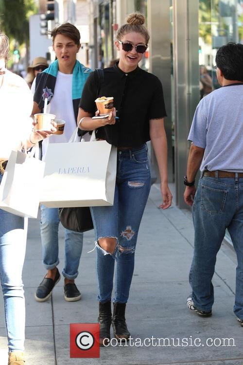 Kendall Jenner and Gigi Hadid go shopping in...