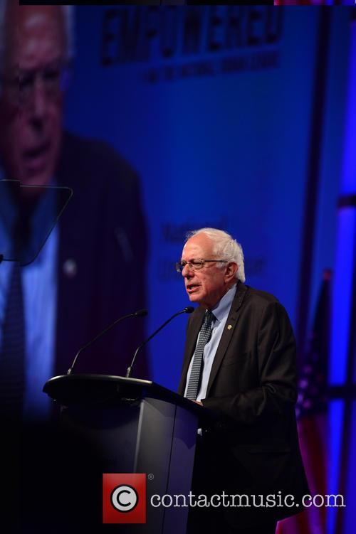 Bernard Sanders speaks during the Presidential Candidates Plenary