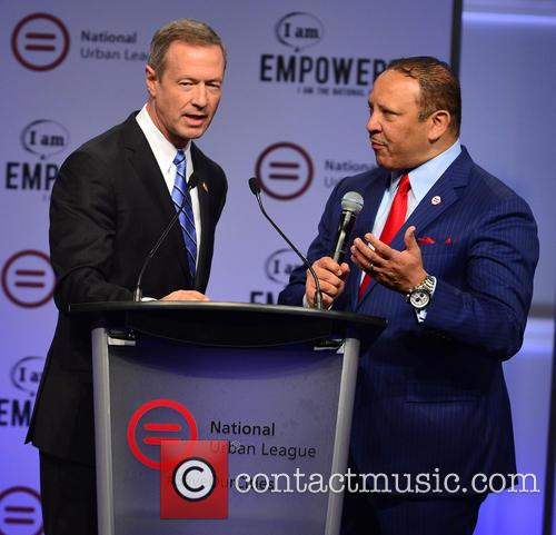 Democratic Presidential Hopeful Former Maryland Gov. Martin O'malley and National Urban League President & Ceo Marc H. Morial 11