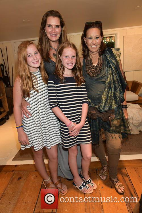 Ronan Henchy, Brooke Shields, Grier Henchy and Donna Karan 1