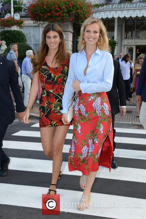 Eva Herzigova and Bianca Brandolin D'adda