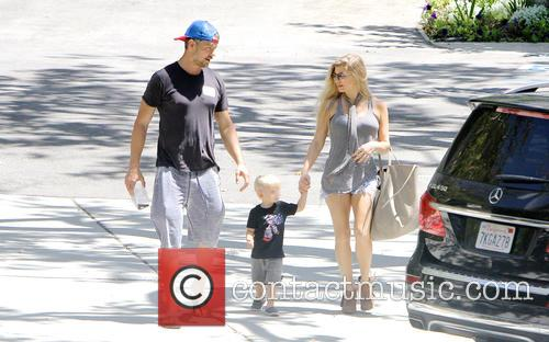 Fergie, Josh Duhamel and their son Axl Duhamel...