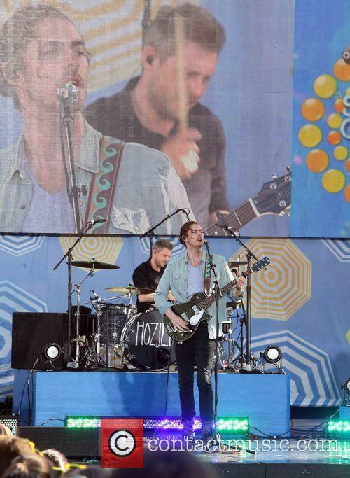 Hozier perform on the 'Good Morning America' Summer...
