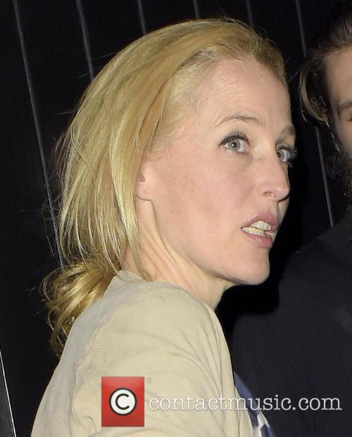 Gillian Anderson visits Chiltern Firehouse