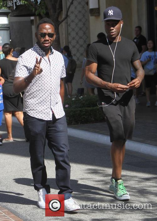 Lamorne Morris goes shopping at The Grove