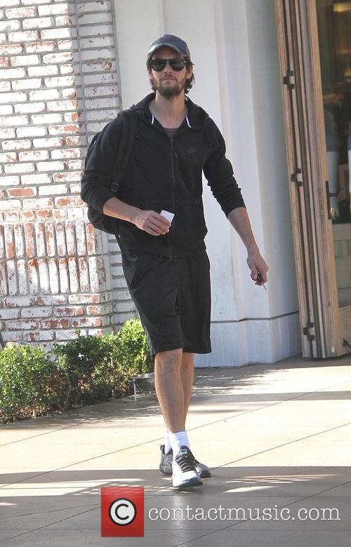 Ben Barnes goes shopping at the Grove in...
