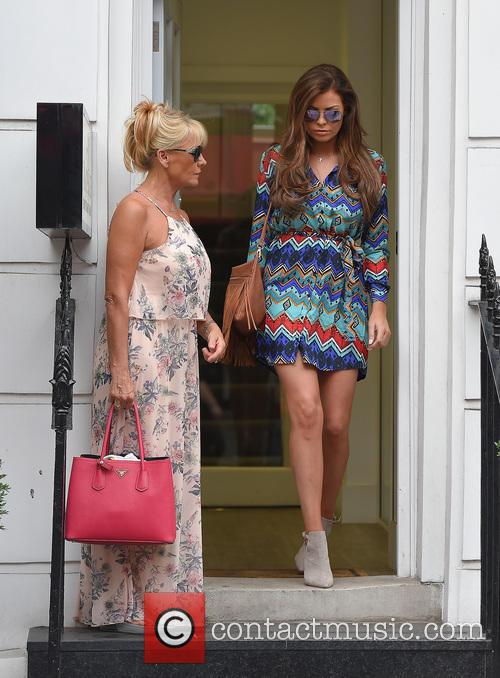 Jessica Wright and her mother Carol Wright leave...