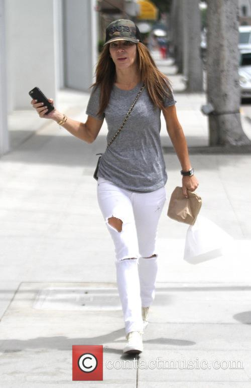 Robin Antin goes shopping in Beverly Hills