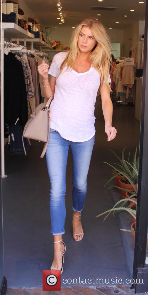 Charlotte McKinney goes shopping in Beverly Hills