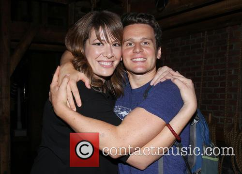 Michelle Collins and Jonathan Groff 3