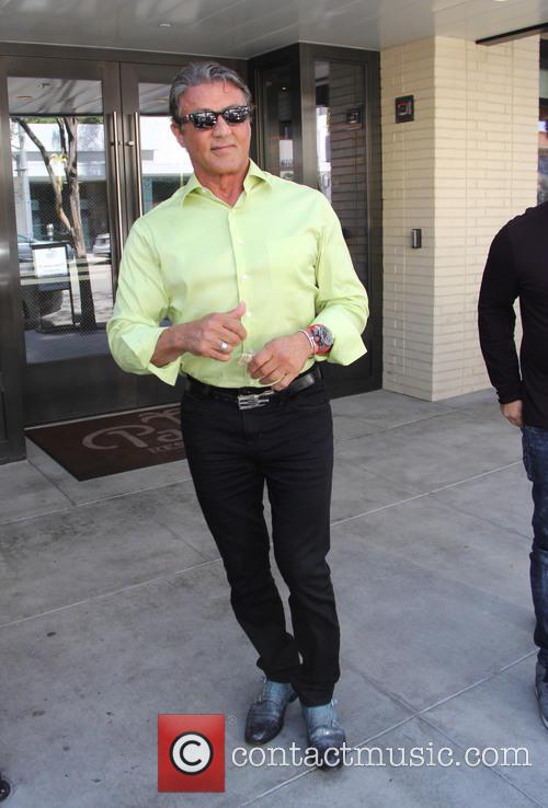 Sylvester Stallone spotted out to lunch The Palm