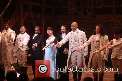 Opening Night Broadway musical Hamilton - Curtain Call