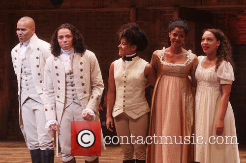 Christopher Jackson, Anthony Ramos, Ariana Debose, Renee Elise Goldsberry and Jasmine Cephas Jones 2