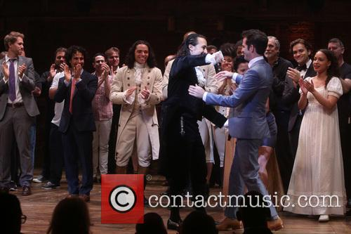 Lin-manuel Miranda, Andy Blankenbuehler, Cast and Creative Team 11