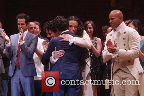 Andy Blankenbuehler, Anthony Ramos, Cast, Creative Team and Christopher Jackson 2