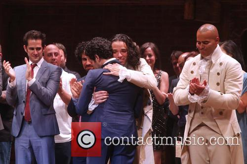 Andy Blankenbuehler, Anthony Ramos, Cast, Creative Team and Christopher Jackson 1