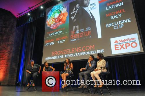 Loni Love, Mc Lyte, Sanaa Lathan, Michael Ealy and Angelique Perrin 3