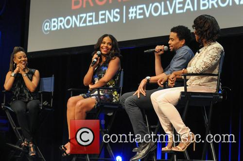Mc Lyte, Sanaa Lathan, Michael Ealy and Angelique Perrin 1