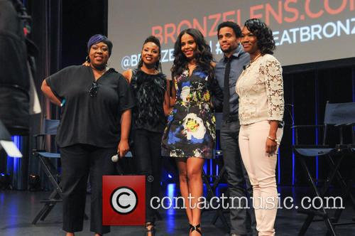 Loni Love, Mc Lyte, Sanaa Lathan, Michael Ealy and Angelique Perrin 1