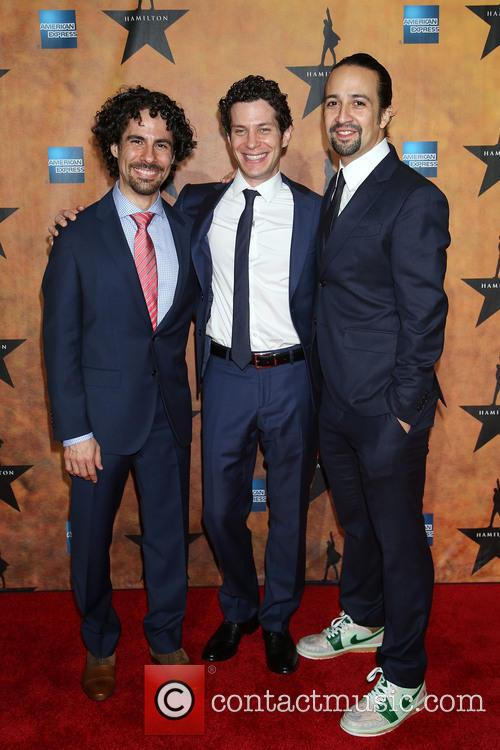 Alex Lacamoire, Thomas Kail and Lin-manuel Miranda 2