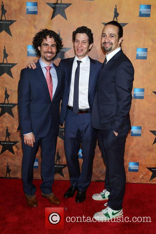 Alex Lacamoire, Thomas Kail and Lin-manuel Miranda 3